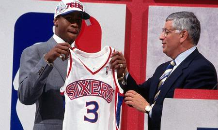 Image result for allen iverson Draft day