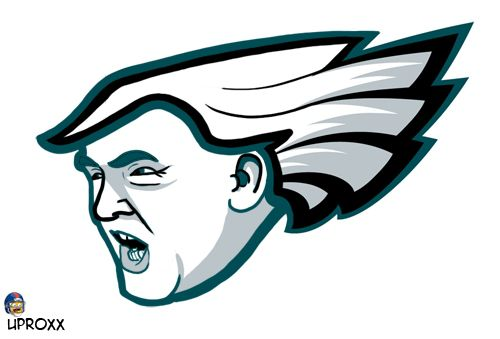 Philadelphia Eagles Clic Logo Giant Officially Licensed Nfl Removable Wall Decal Fathead